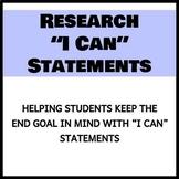 "Inquiry Unit ""I Can"" Statements"