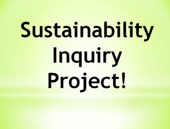 Inquiry Unit Plan - Sustainability Relating to Social Studies Outcomes. EcoSmart
