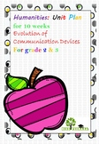 Inquiry Unit Planner - Evolution of Communication Device