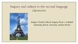 Inquiry and Culture in the FSL Class - (France) Unit plan, Anchor Charts, Guide