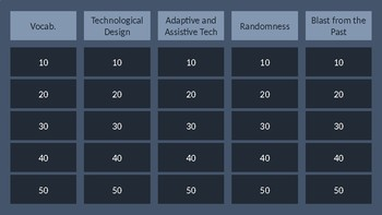 Inquiry and Engineering Jeopardy