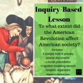 APUSH Period 3 Inquiry-Based Lesson: The American Revolution