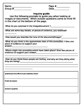 Inquiry worksheet