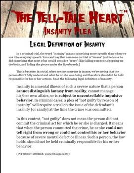 """Insanity Plea -- """"The Tell-Tale Heart"""" by Edgar Allan Poe"""