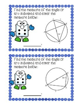 Inscribed Angles Boom Cards Level 1--Digital Task Cards