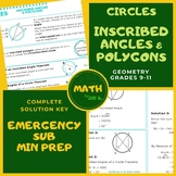 Inscribed Angles & Polygons in Circles Handout Lesson Work