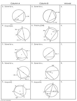 angles in a circle worksheet resultinfos. Black Bedroom Furniture Sets. Home Design Ideas