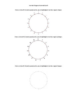 Inscribing polygons in circles