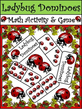 Insect Activities: Insect Dominoes Spring-Summer Math Activity Packet Bundle