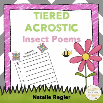 Insect Writing: Tiered Acrostic Poem Templates