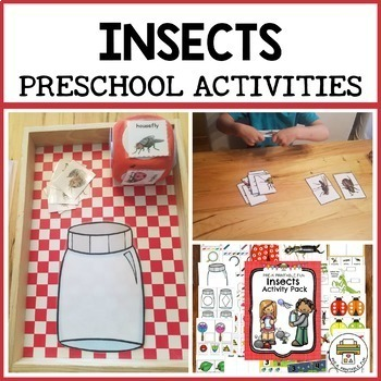 Insect Activities for Pre-K, Preschool and Tots