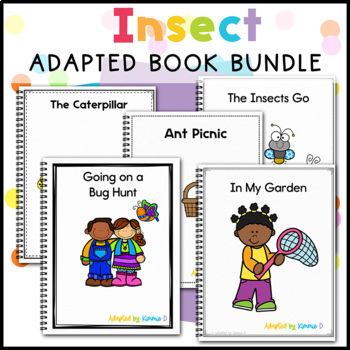 Insect Adapted Book Bundle: 2 Insect Adapted Books for Special Education