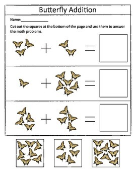 Insect Addition Worksheet Set