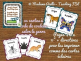 Insect & Animal Bingo Game (French) Bundle