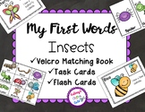 Insect Book, Task Cards and Flash Cards