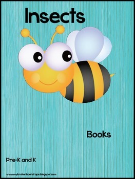 Kindergarten Insect Emergent Reader Books