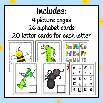 Insect Bug Letter Sort - S