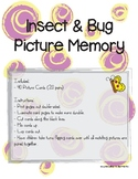 Insect Bug Picture Memory