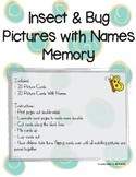 Insect Bug Pictures with Names Memory