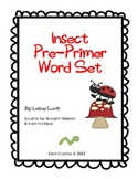 Insect Buggies Pre-Primer Word Set