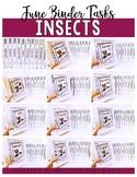 Insect Bundle- Independent Work Binder System