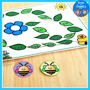 Insect CVC Word Literacy Center Activities BUNDLE