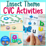 Insect CVC Word Literacy Center Activities
