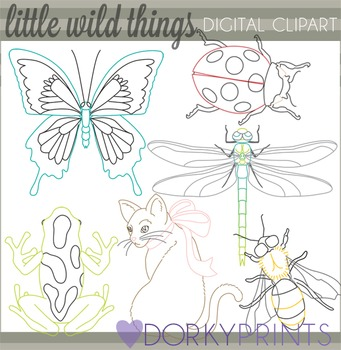 Insect, Cat, Frog Clip Art