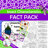 INSECTS CHARACTERISTICS Fact Pack Informational Text Reading Writing Posters