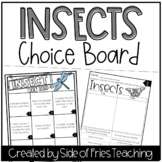 Insect Choice Board Printables