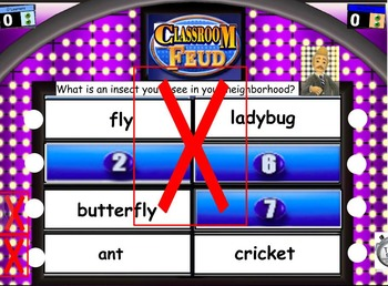 Insect Classroom Feud game flipchart
