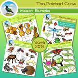 Insect Clip Art Bundle - 100 Piece Entomology Set - Color