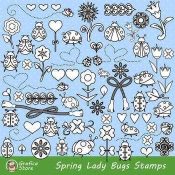 Insect Clip art, Illustrations, Scrapbook Coloring Pages,