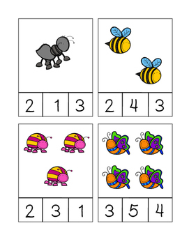 Insect Count and Clip Cards (1-20)