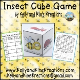 Insect Cube Game {roll, tally, & graph skills}
