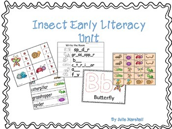Insect Early Literacy Activities