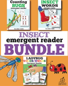 Insect Emergent Readers Bundle for Spring