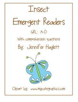 Insect Emergent Readers - Guided Reading Levels A-D