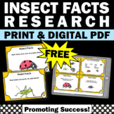 Free Bugs and Insects Activity Sampler, Science Task Cards