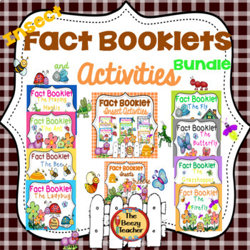 Insect Fact Booklets and Activities Bundle