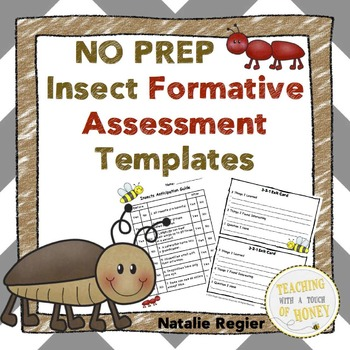 Insects Assessment: NO PREP Formative Assessment Templates