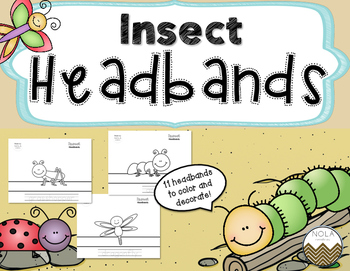 Insect Headbands- Traceable- No Prep!