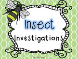 Insect Investigations (a cross curricular unit)
