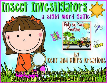 Insect Investigators! {a sight word game with ALL Dolch words}