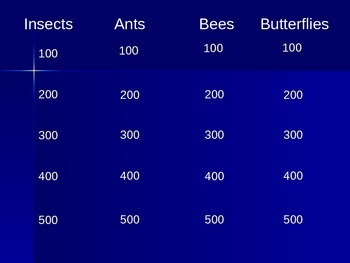 Insect Jeopardy