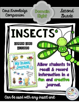 CKLA Insect Journal ~Second Grade (Engage NY / Core Knowledge Domain 8)