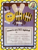 Insect Labeling and Writing --- Insect Craftivity --- Insects Are BEE-lightful!