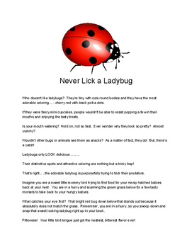 Insect (Ladybugs and Ants)  Informational text compare/contrast Reading Pack