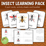 Parts of an Insect Montessori 3 Part Cards