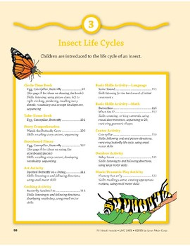 Insect Life Cycles: Outdoor Activity, Verse, and Finger Puppets